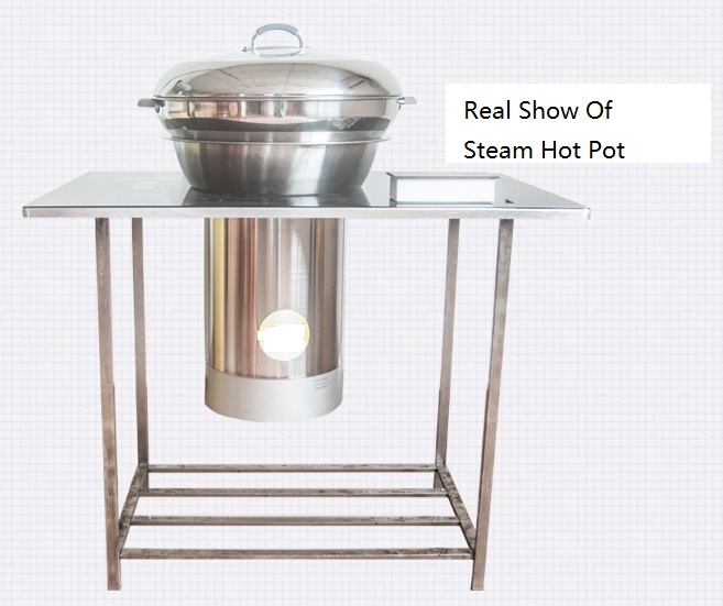 2 in 1 Steamer Hotpot effect - CENHOT