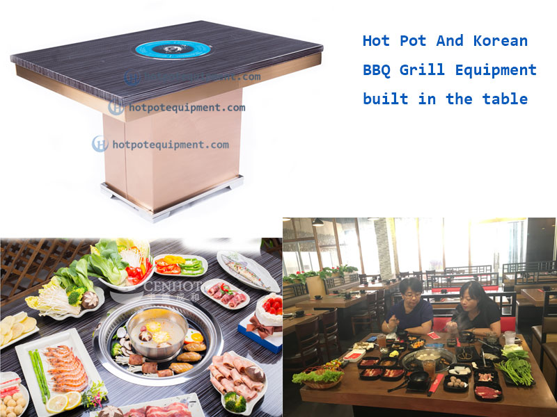 Restaurant Korean BBQ Table Grill built in the table - CENHOT