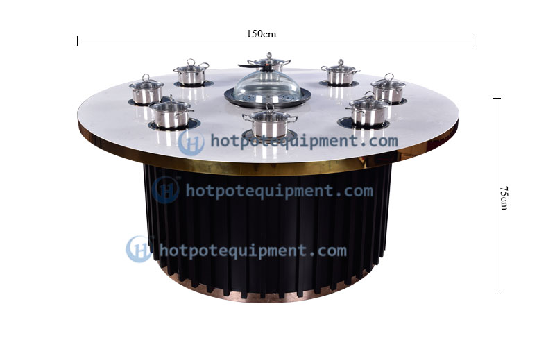 Customize Restaurant Round Hot Pot Tables Manufacturers China Effect - CENHOT