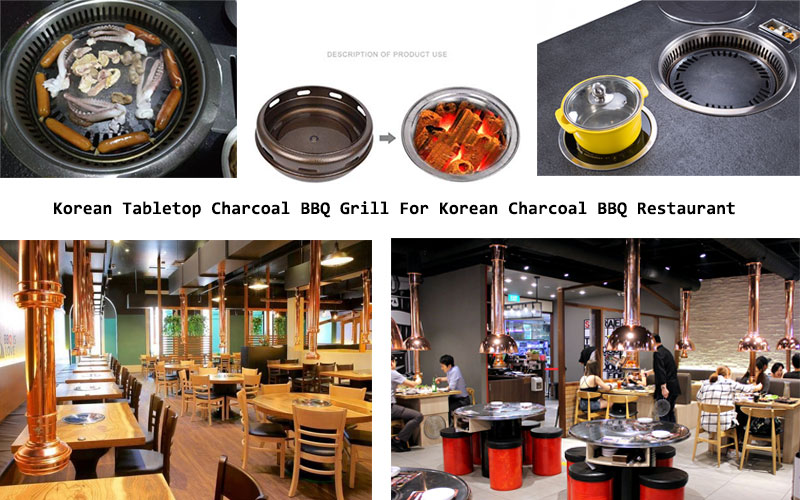 Korean Tabletop Charcoal BBQ Grill For Korean Charcoal BBQ Restaurant - CENHOT