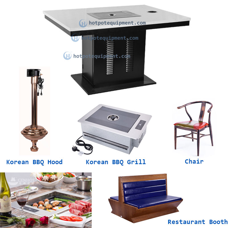 Smokeless Korean BBQ Grill Table - CENHOT