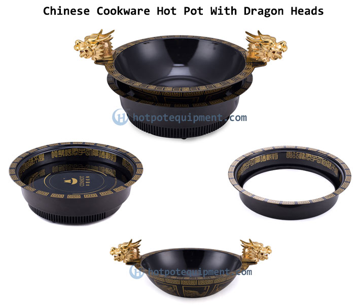 Chinese Cookware Hot Pot With Dragon Heads - CENHOT