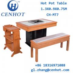 Restaurant Smokeless Hotpot Table And Chair Set Supply Guangdong - CENHOT