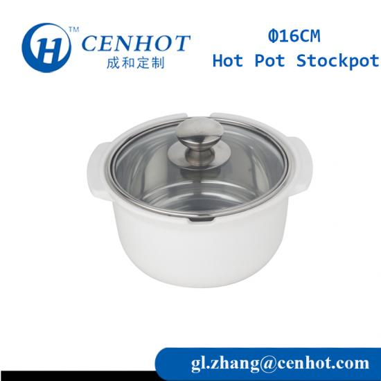 Mini Stainless Steel Soup Pot,Stock Pot With Glass Cover - CENHOT