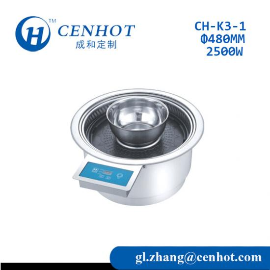 Round Korean Wire Touch Bbq Grill And Hot Pot,LCD Touch Bbq Grill,Remote Control Button Bbq Grill-CENHOT