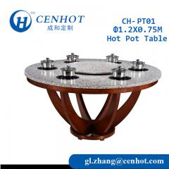Round Shabu Hot Pot Tables For Sale China - CENHOT