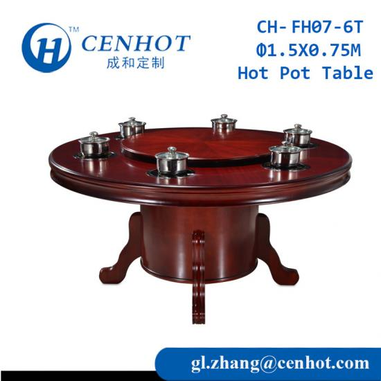 China Hot Pot Table For Restaurant Supplier
