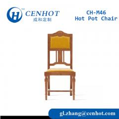 Yellow Wood Restaurant Dining Chairs For Sale - CENHOT