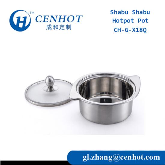 Shabu Shabu Stockpots With Stainless Steel Material - CENHOT