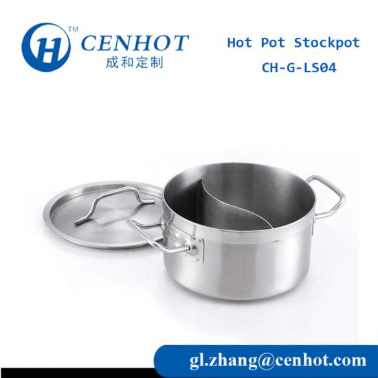 Steel Shabu Shabu Hot Pot With Divider For sale